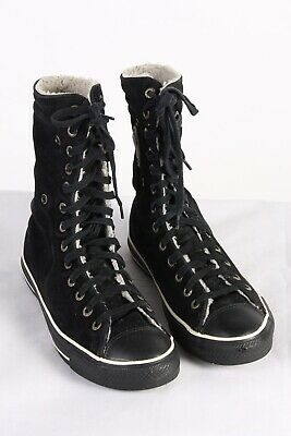 Vintage Converse All Star Unisex High Top Sneakers  UK M8 / W10 Black - S785