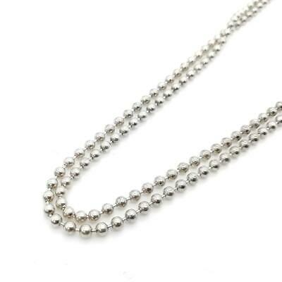 Tiffany & Co. Sterling Silver 925 Beaded Ball Long Chain Necklace 87cm Pendant