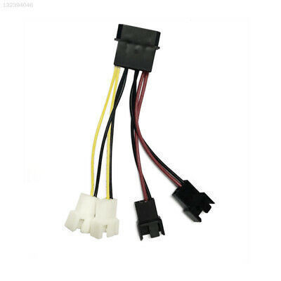 9916 Durable PC Fan Connector Fan Splitter CPU Cables Power Extended Computer