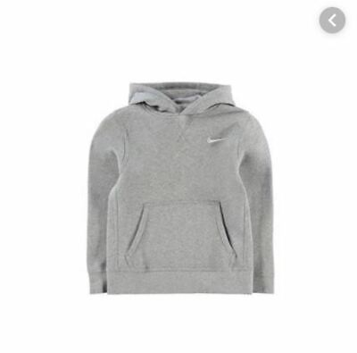 NIKE Fund Fleece Hoody Junior Boys Grey Age 11-12 LN001 UU 04