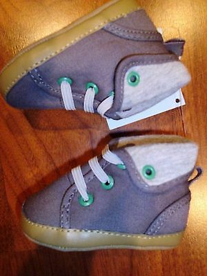GYMBOREE Jolly Moose Baby Boy Crib Shoes Boots Brown w//Fur Size 1 2 4 NEW
