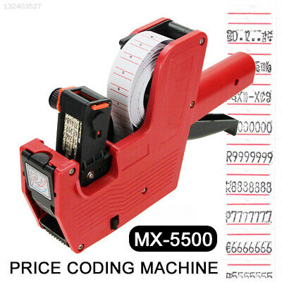 E4C4 Creative Red Label Stamping Machine Price Labeller Digits EOS Rate Printer