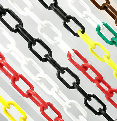 25m x 6mm Plastic Chain Decorative Barrier Systems Health & Safety Fence Garden
