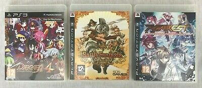 Sony PlayStation 3 PS3 Games: Disgaea 4, Battle Fantasia, Agarest