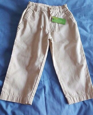 Boys Designer Timberland Light  Beige Trousers Age 3 RRP £32.99 BNWT