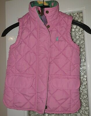 Girls Joules Pink Gilet Age 3