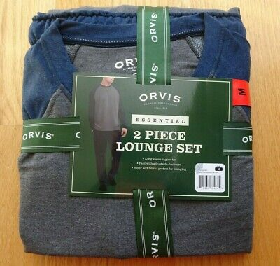 Orvis Pajamas Two Piece Lounge Set Size MEDIUM Super Soft Raglan Tee and Pants
