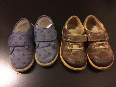 Two Pairs of Boys Shoes Size 6 Clarks