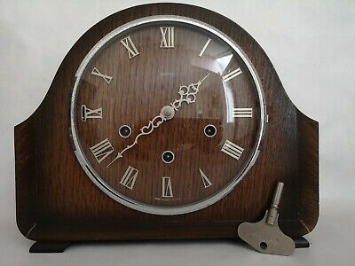 Vintage Smiths 8 Day Mantle Clock, working perfectly, with silent function