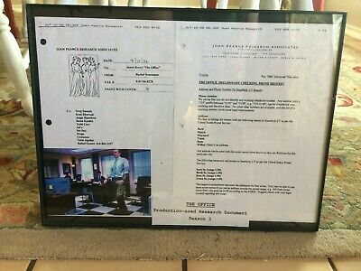 THE OFFICE Production-used Research Documents Stamford Branch Season 3 Prop NBC