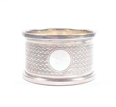 Antique Silver Napkin Ring Birmingham 1944 HM 925 Sterling 16.6g