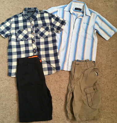 Boys Age 11-12 Shirts And Shorts Bundle Ted Baker H&M George