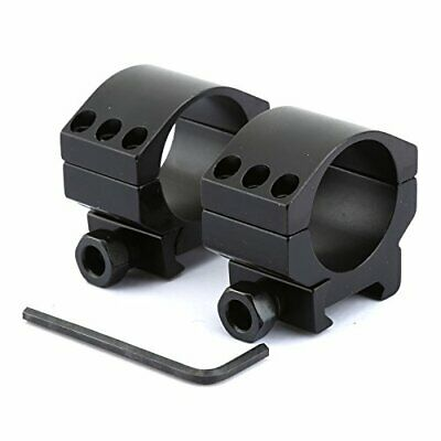 2x30mm Low Profile Heavy Duty Rifle Scope Mount Rings with 6 Bolts for Weaver Pi