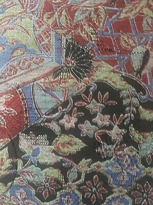 Narrow Width Vintage Japanese Silk Fabric 80in x 14 3/4in ~ Beautiful & Perfect