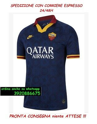 AS ROMA THIRD TERZA MAGLIA 2019/2020 NIKE imbustata. PATCH SERIE A no matchday