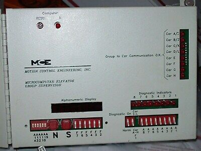 Motion Control Engineering Microcomputer Elevator GROUP Controller TESTED