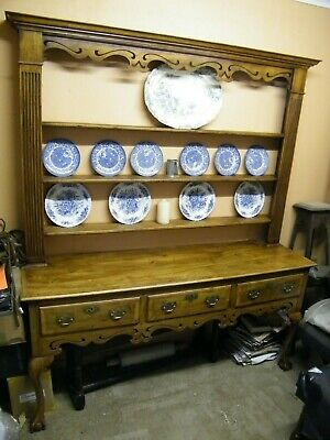Ball and claw solid walnut dresser .Handmade antique replica.
