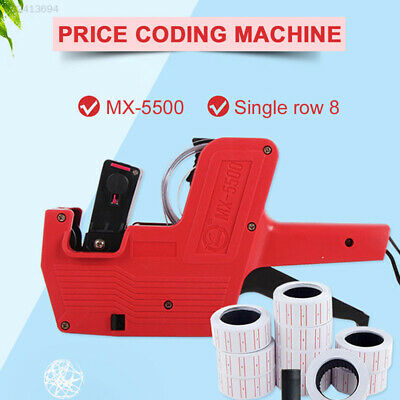 F6AE Unique Red Label Stamping Machine Price Labeller Office Rate Printer Tag