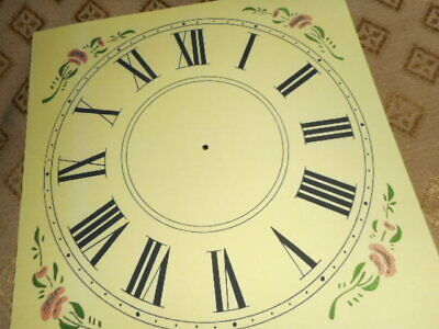 "Mantle / Shelf Paper (Card) Clock Dial - 5"" M/T-MATT CREAM-Corner Designs-Parts"