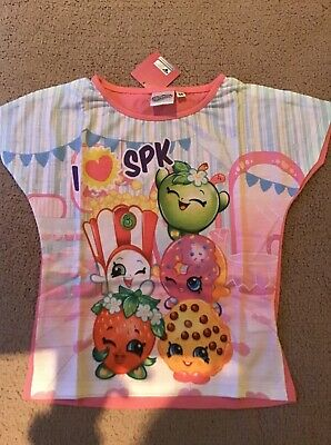 Girls PJ'S Age 5-6, 116 Cm. BNWT Shopkins Pink Childrens Pyjamas Short Sleeves