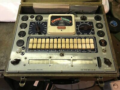 Vintage Jackson 648 Dynamic Tube Tester Tested  Working