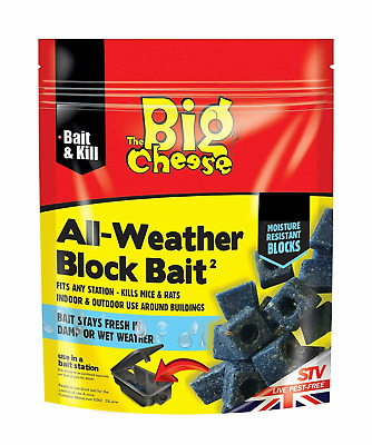 Big Cheese Poison Block Bait Killer Strong Rat Mouse Strength Rodent Control