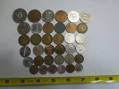 YEARS DENOMINATIONS LOT OF 10 24K GOLD PLATED WORLD COINS  VARIOUS COUNTRIES