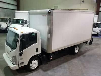 2015 Isuzu Nqr 17950 Gvw 16` Van Body Tuckaway Liftgate Fleet Maintained