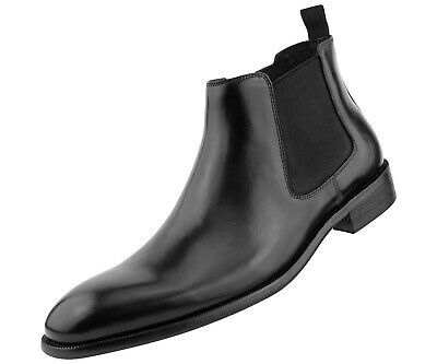 Mens Dress & Casual Boots, Gore Low Top Genuine Calf Skin Leather Chelsea Boot