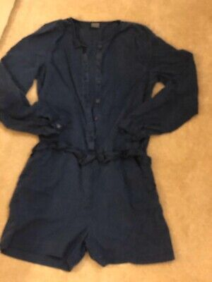 Next Girls Navy Blue Denim Dress Shorts Playsuit Outfit 12 13 Years