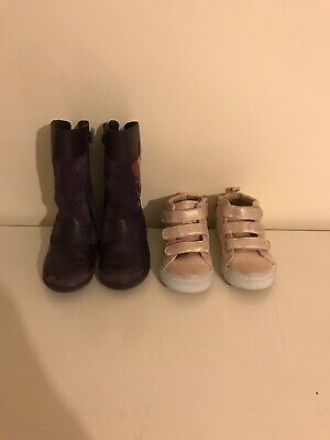 Girls Shoes Bundle Startrite Girls Boots Infant 7F Gap Trainer Size 8 VGC