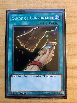 1ST ED SECRET RARE NM LCKC-EN092 YUGIOH CARDS OF CONSONANCE