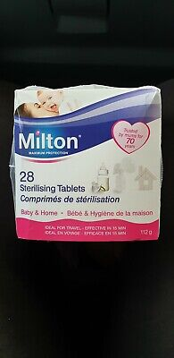 Milton Sterilising Tablets 56 Tabs 2 x boxes NEW