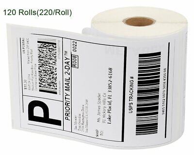120 Rolls 220/Roll 4x6 Direct Thermal Shipping Label Dymo 4XL 1744907 Compatible