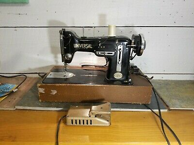 Vintage  ZigZag Universal Sewing Machine 1950's-60's Family Style Heavy Duty.