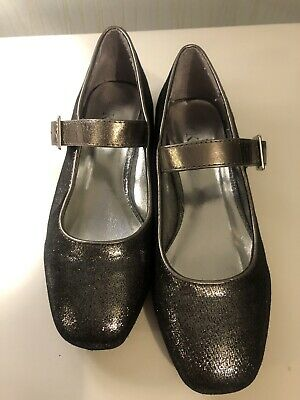 Girls Silver Sparkly Shoes