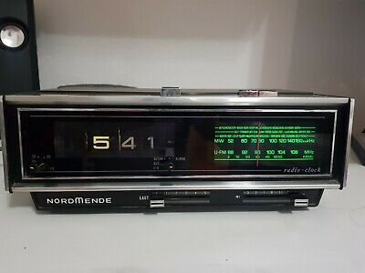 1970-1971 NORDMENDE 170A Roll Zahlen Wecker Digital Clock works