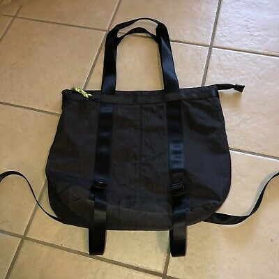 Urban Outfitters UO Mimi Convertible Tote Bag Backpack Black Canvas Nylon