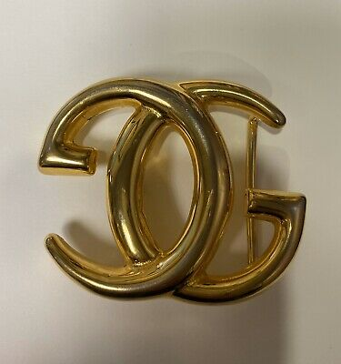 RARE Large and Heavy Vintage GUCCI GG Logo Monogram Belt Buckle 1970s
