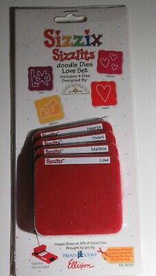 Sizzix Sizzlits doodle Dies Love Set - ideal Valentines day