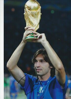 ANDREA PIRLO SIGNED 8x12 PHOTO - UACC & AFTAL RD  JUVENTUS MILAN ITALY