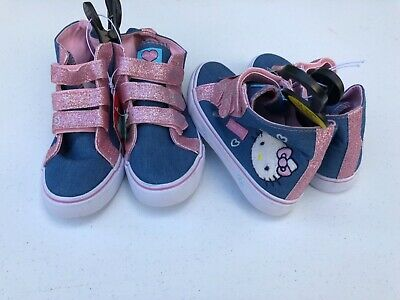 Hello Kitty Pink Glitter Girls Trainers UK Size 1