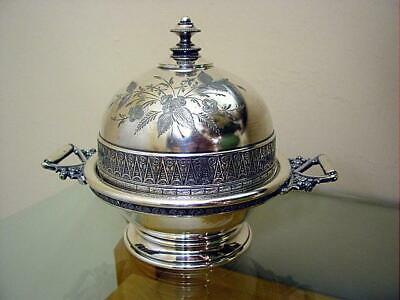Victorian Wilcox Silver Plated Butter Keeper Holder #3228 Nice Condition Ca 1890