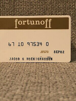 Fortunoff Department Store Vintage Collectors Credit Card