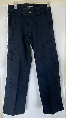 5.11 Tactical Women's 2 Dark Navy Blue Straight Cargo Uniform Tactical Pants