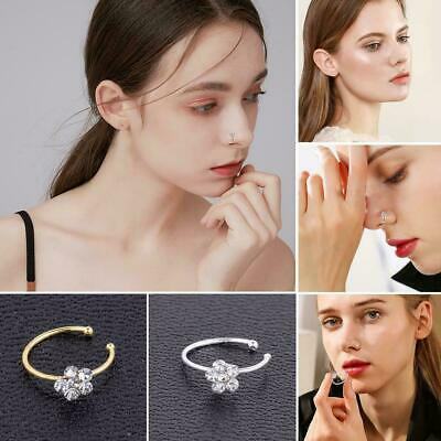 1* Fashion Nose Ring Stud Hoop Fake Septum Clicker Piercing  Nose Clip Rings CY2