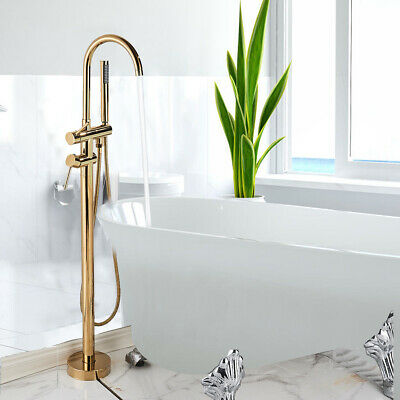 Wall Mounted Bathtub Faucet Mixer Tap with Handheld Shower Brushed Nickel