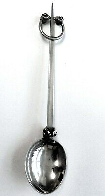 Arts and Crafts Silver Rams Heads Large Antique Spoon. 64.7 gm