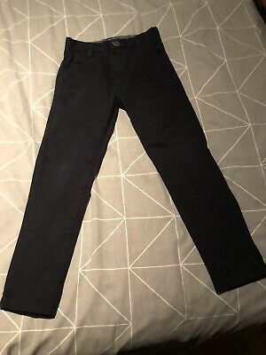 Next Boys Dark Blue Chino Trousers Size Age 5 Worn Once