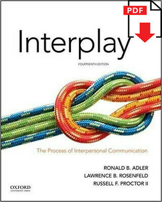 Interplay:The Process of Interpersonal Communication 14thEdition ✅ P.D.F ✅ book